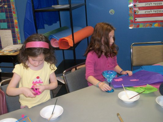 Children Making Passover Crafts